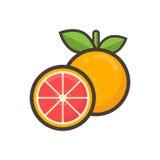 Arancia e calce del fumetto Fotografia Stock Libera da Diritti