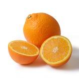 Arancia e fetta succose Fotografia Stock Libera da Diritti