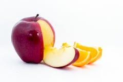 Arancia e mele Immagini Stock Libere da Diritti