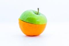 Arancia e mele Immagine Stock