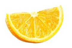 Arancia fresca affettata su bianco fotografie stock
