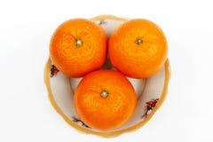 Arancia isolata su fondo bianco Fotografia Stock
