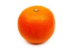 Arancia isolata su fondo bianco Immagini Stock Libere da Diritti