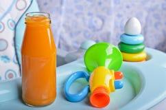 Arancia luminosa del succo Fotografie Stock Libere da Diritti