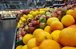 Arancia nel mercato Fotografia Stock