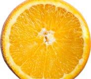 Arancia organica e sana su fondo bianco fotografia stock libera da diritti