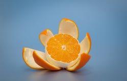 Arancia piacevolmente sbucciata Immagine Stock