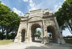 Arancia, Roman Arch Immagine Stock