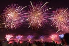 Arancia rossa dei fuochi d'artificio Immagine Stock