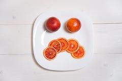 Arancia rossa triste Fotografia Stock Libera da Diritti