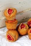 Arancia sanguinella e Olive Oil Muffins del grano intero Fotografia Stock Libera da Diritti