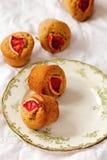 Arancia sanguinella e Olive Oil Muffins del grano intero Fotografie Stock Libere da Diritti
