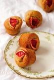 Arancia sanguinella e Olive Oil Muffins del grano intero Immagine Stock Libera da Diritti