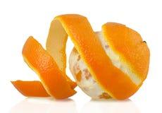 Arancia su fondo bianco Immagine Stock Libera da Diritti