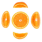 Arancia su un fondo bianco Fotografie Stock