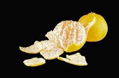 Arancia succosa matura sbucciata della frutta Fotografia Stock