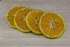 Arancia tailandese della fetta Fotografie Stock