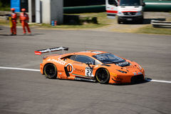 Arancia 1 Team Lazarus Lamborghini Huracan GT3 a Monza Fotografie Stock