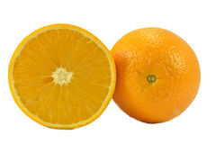 Arancia in un taglio Immagini Stock