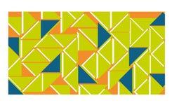 Arancia, verde e blu del fondo Immagine Stock