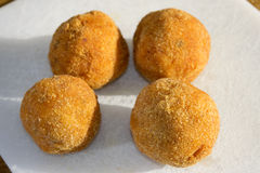 Arancina. Mediterranean appetizers and food:fried arancine Stock Image