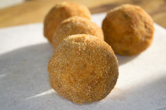 Arancina. Mediterranean appetizers and food:fried arancine Stock Photos