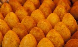 Arancini,意大利开胃菜 免版税图库摄影