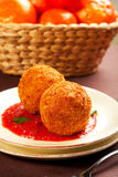 Arancini Photographie stock