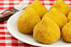 Arancini. Deep fried stuffed rice balls typical of Sicily Stock Image