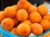 Arancini - bolas de arroz fritado Fotografia de Stock