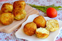 Arancini. Fried rice balls. Italian rice snack. Fried rice balls recipe. Rice arancini photo Royalty Free Stock Photography