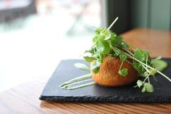 Arancini. Italian appetizer at restaurant Stock Image