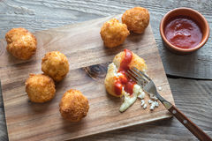 Arancini - rice balls with mozzarella Royalty Free Stock Photo