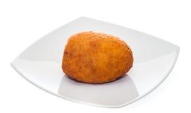 Arancino στο πιάτο Στοκ Εικόνες