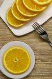 Arancio affettato Immagine Stock