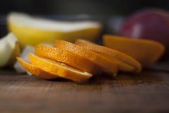 Arancio affettato in anelli Fotografie Stock