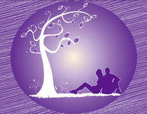 Arancio astratto dell'illustrazione dell'albero Fotografia Stock Libera da Diritti