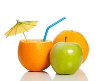 Arancio come bevanda Immagine Stock Libera da Diritti