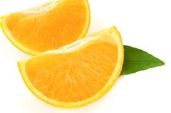 Arancio con i fogli Immagine Stock Libera da Diritti