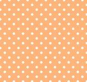 Arancio con i puntini di Polka bianchi Immagine Stock