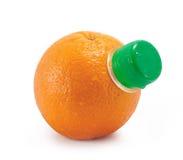 Arancio con il collo della bottiglia fotografia stock