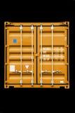 Arancio del contenitore immagini stock