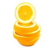 Arancio della fetta Immagini Stock