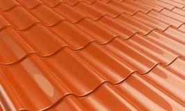 Arancio delle mattonelle del metallo Fotografia Stock Libera da Diritti