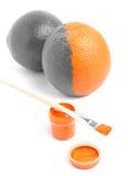 Arancio di arte fotografia stock libera da diritti