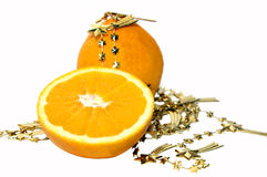 Arancio di natale Immagini Stock Libere da Diritti