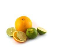 Arancio e calce Immagine Stock