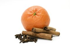 Arancio e condimento Fotografia Stock
