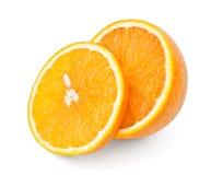 Arancio e fetta Fotografie Stock