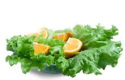 Arancio e lattuga Immagine Stock Libera da Diritti
